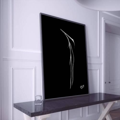 tableau moderne de femme nue 64 au pastel sec nude woman painting