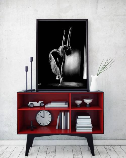 Tableau moderne danseuse 4 au pastel sec