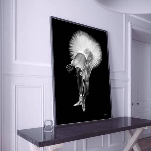 Tableau peinture moderne danseuse 3 au pastel sec