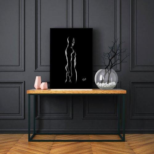 nu artistique masculin – tableau moderne d'homme nu 11 au pastel sec