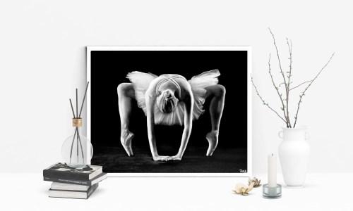 tableau de danseuse moderne 6  au pastel sec