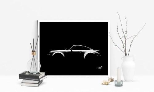 Porsche-modern-pastel-painting-tableau-design-Daunis-Pierre-Olivier-artistic-sport-car-peinture de Porsche