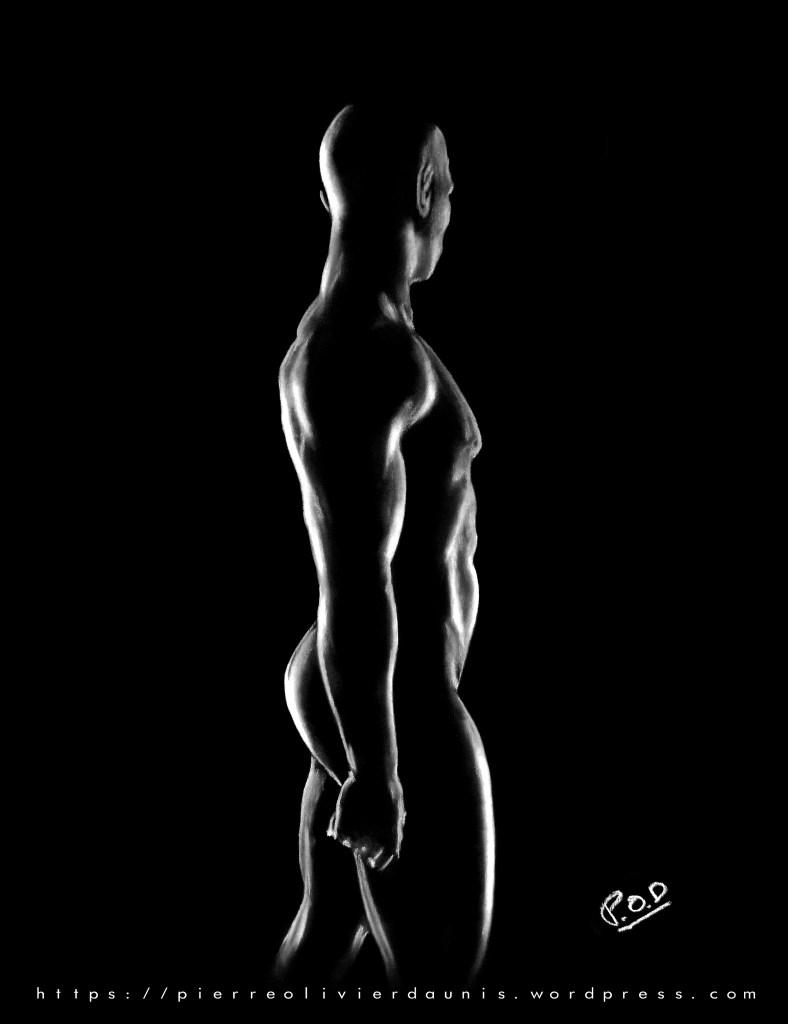 tableau moderne d'homme nu 11.nude man painting