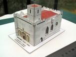 Papercraft imprimible y recortable de la Iglesia de Saint-Martin de Esnandes en Francia. Manualidades a Raudales.