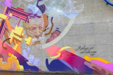 Murale Le sage et la muse