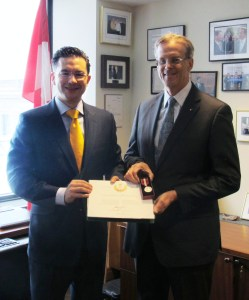 MP Poilievre and David Rattray
