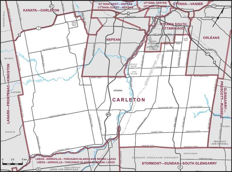 Carleton Riding Map