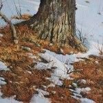 Espoir d'un printemps (Aquarelle 14 x 20 po / 32 x 51 cm)
