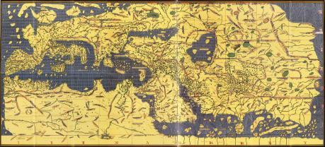 Planisphère d'Al-Idrisi (1154)