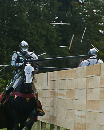 Jousting at Mannington Hall, Norh Norfolk