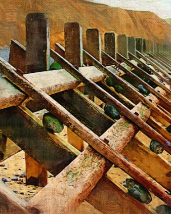 Groynes at West Runton, North Norfolk coast