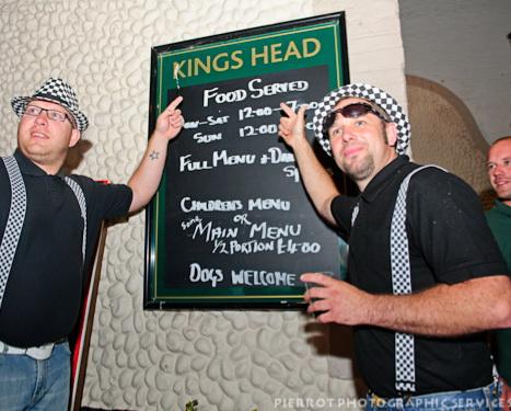 Cromer carnival fancy dress Kings Head menu board