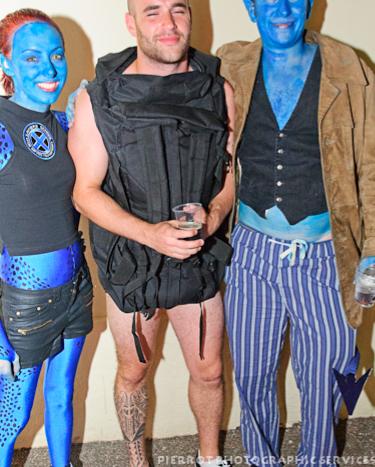 Cromer carnival fancy dress avitar and man