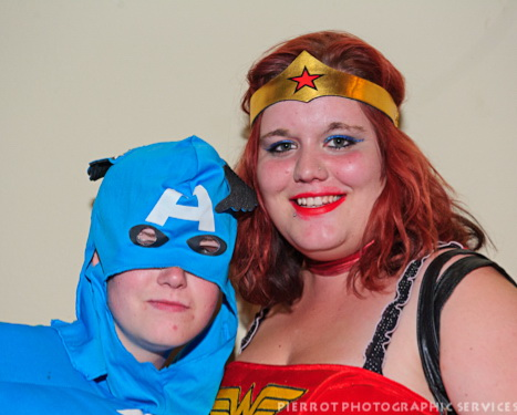 Cromer carnival fancy dress superwoman and mate