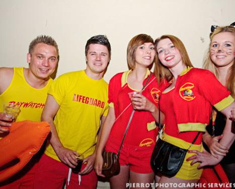 Cromer Carnival fancy dress lifeguards