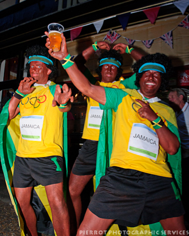 Cromer carnival fancy dress Usain Bolt lookalikes