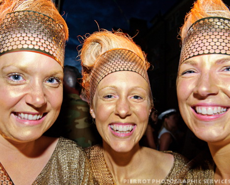 Cromer carnival fancy dress golden olympic torch girls