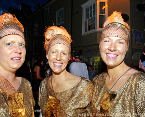 Cromer carnival fancy dress olympic torch girls