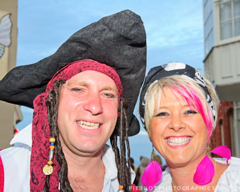 Cromer carnival fancy dress pirate and mate