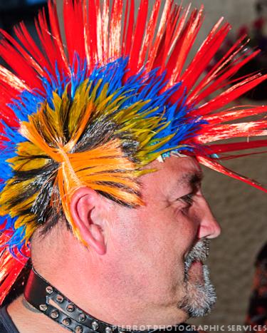Cromer carnival fancy dress punk rocker side view