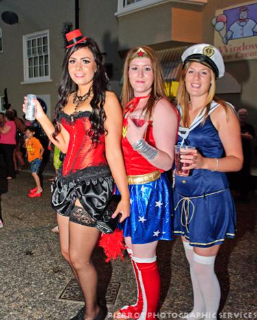 Cromer carnival fancy dress three girls
