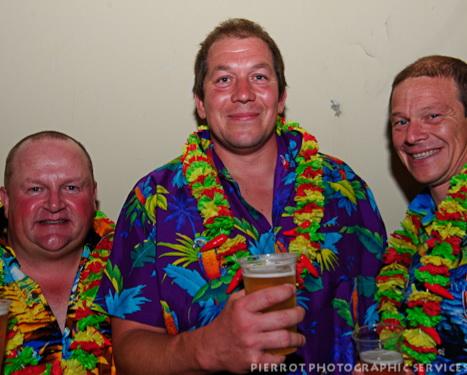 Cromer carnival fancy dress three men in hawiian shirts