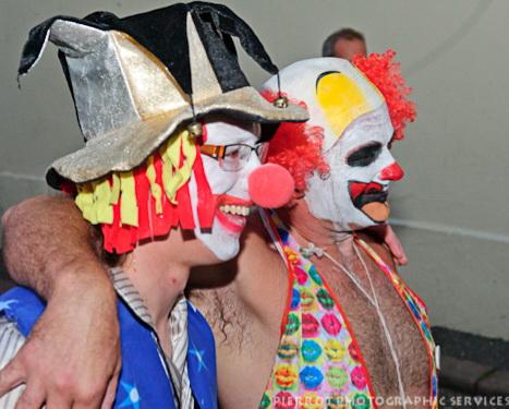 Cromer carnival fancy dress two friendly clowns