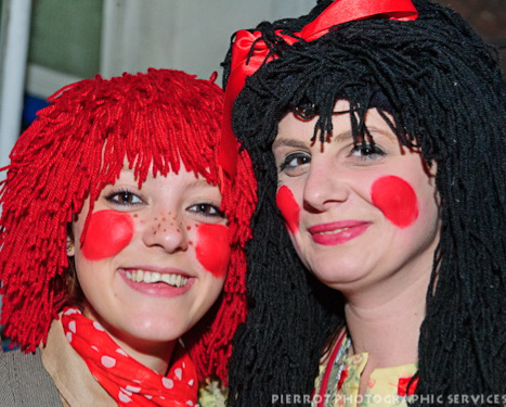 Cromer carnival fancy dress two very rosie cheeked girls
