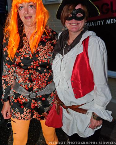 Cromer carnival fancy dress two women in fancy dress one being a highway woman