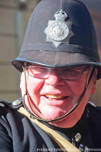 Policeman at 1940s weekend in Sheringham