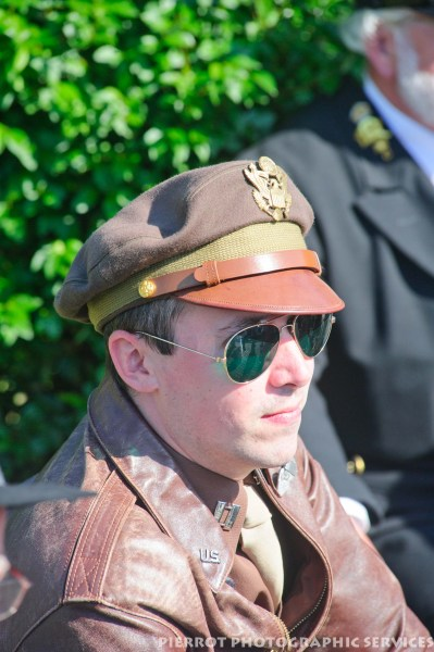 Man dressed as an American at the 1940s weekend in Sheringham, North Norfolk 2012