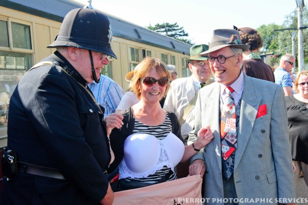 Fun at the 1940s weekend in Sheringham, North Norfolk