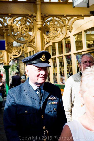 RAF officer on platform