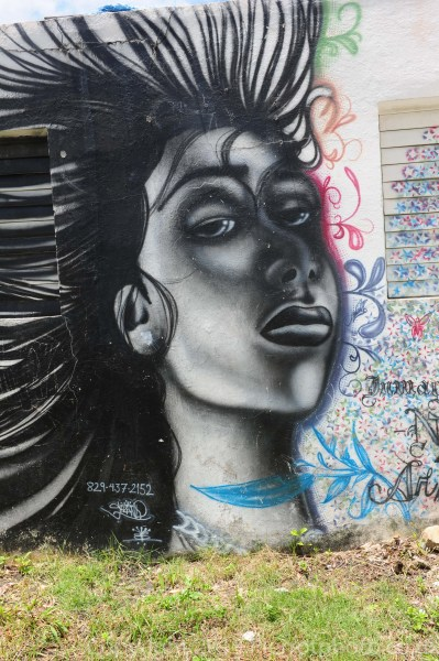Local graffiti in Samana, Dominican Republic