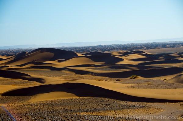 Sand dune landscape in the Sahara desert, Morocco