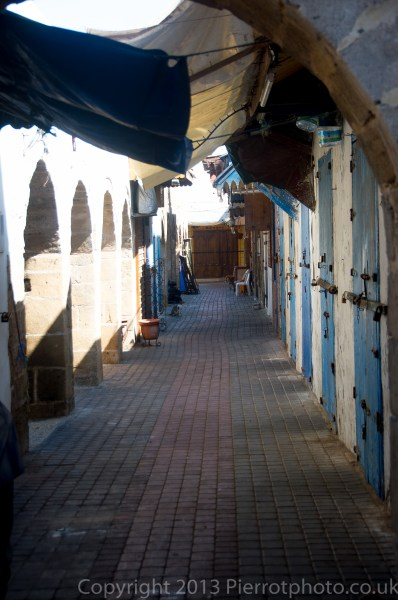 Alleyway in the medina of Essaouira, Morocco