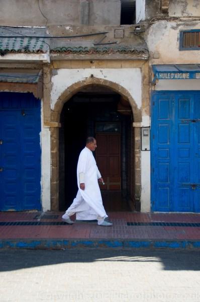 Moroccan in the medina of Essaouira, Morocco