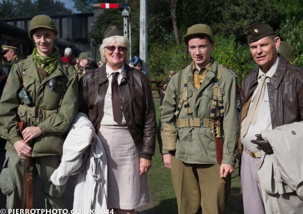 1940s weekend in Sheringham North Norfolk 2014 - four American GIs