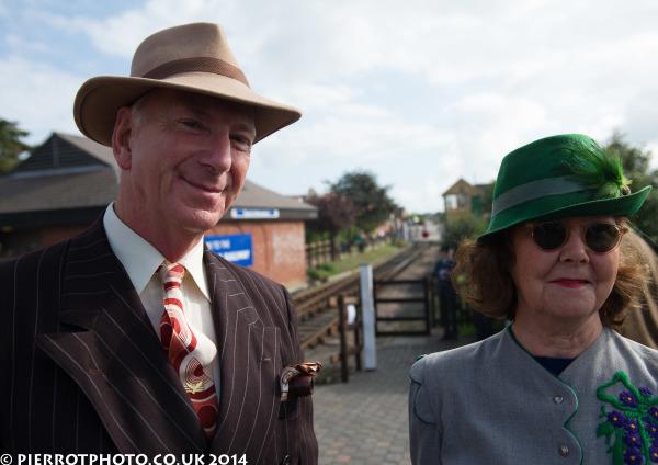 1940s weekend in Sheringham North Norfolk 2014 - 1940s couple