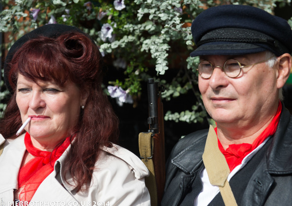 1940s weekend in Sheringham North Norfolk 2014 - French resistance couple