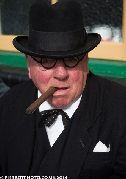 1940s weekend in Sheringham North Norfolk 2014 - Sir Winston Churchill