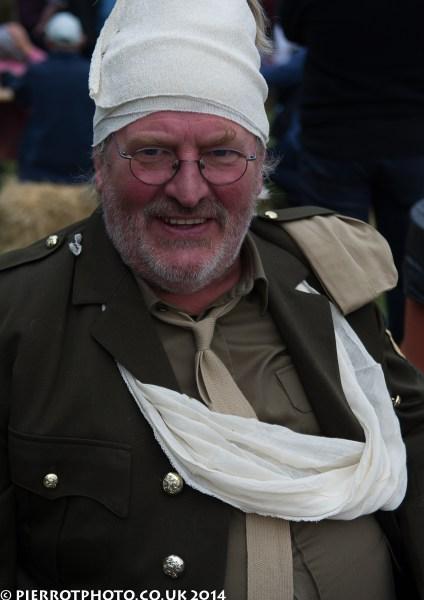 1940s weekend in Sheringham North Norfolk 2014 - injured soldier
