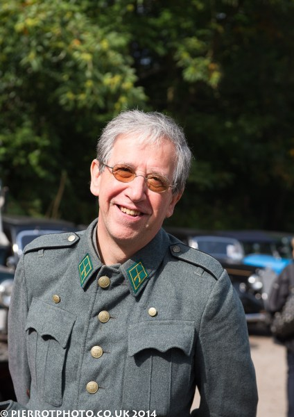 1940s weekend in Sheringham North Norfolk 2014 - yours truly in his father's original Swiss army uniform