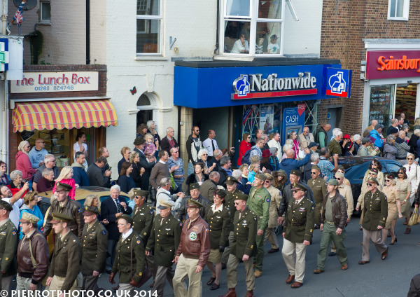 1940s weekend in Sheringham North Norfolk 2014 - parade through Sheringham
