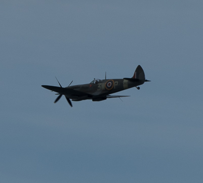 Spitfire flying over Sheringham