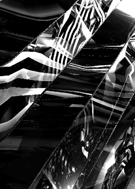 Reflective Ribbons a digital image by Piers Bishop