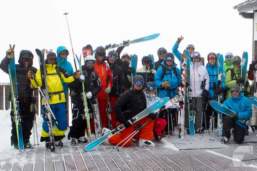 Lancement ski BBR Salomon, Courchevel