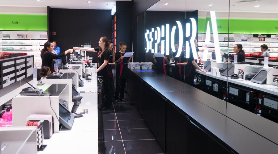 Inauguration Sephora Lyon Pardieu, les caisses
