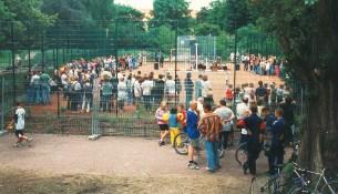 Einweihung kleiner Sportplatz im ehem Schulgarten Juni 1997
