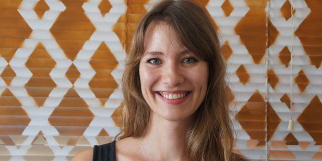 Julia Pommer in ihrem Atelier in der Geh8